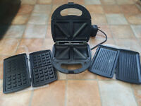 Sandwich Toaster Panini Grill Waffle Maker 3in1