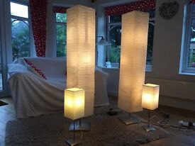 Two floor and two table lamps - matching set with bulbs