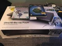 Samsung 4K Ultra HD Blu-ray Player - UBD-M9000. INCLUDING 2 x 4K HDR Blu-rays (see description)