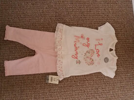Brand new summer set for baby girl 3-6 mths