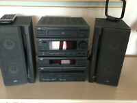 JVC Stackable music Centre and Speakers