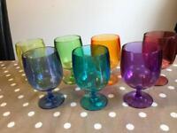 Set of 7 plastic tumblers