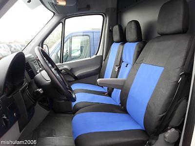 Sitzbezüge Schonbezüge  2+1 für MERCEDES SPRINTER W906  2006+ blau - schwarz