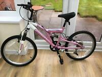 "Girls front suspension bike 20"" wheels suit 7-10 years"