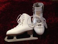 Graf Davos junior Figure Ice Skates White as New size 30