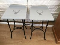 Pair Stag Bedside table or coffee side tables