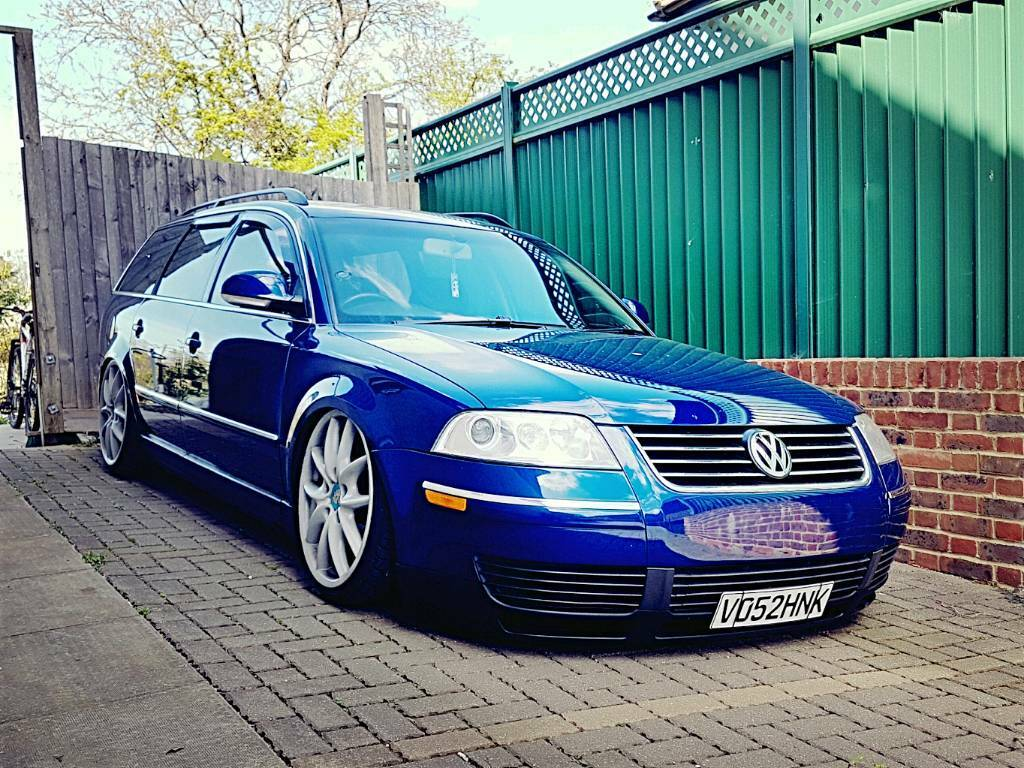 modified show vw passat b5 5 sport estate 6speed long mot air ride porsche wheels. Black Bedroom Furniture Sets. Home Design Ideas