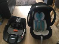 Mamas and papas cybex Aton car seat and isofix base