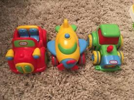 Little tikes push and go mini vehicles car plane tractor