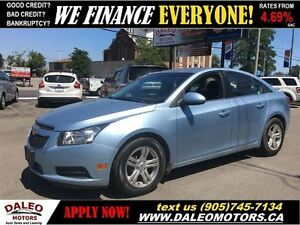 2011 Chevrolet Cruze LT Turbo 108KM NO CREDIT CHECK LEASES