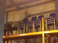 Plastic/Fabric Office Stacking Chairs
