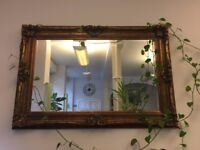 Large Statement Mirror- Gold Frame, Excellent Condition! Collection ONLY!
