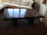 Marble coffee tables and Bedroom drawer unit