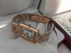 New Swiss LADIES Cartier Tank Rose gold Watch