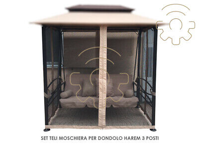 Set Sheeting Side Moschiera Mosquito Net for Rocking Harem 3 Seats Quick Rapid