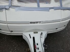 Swift Caravan front gas locker door