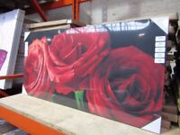 New Arthouse Scarlet Trio of Roses Canvas
