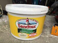 Sandex masonry paint 4 X 10l containers magnolia