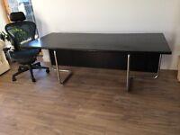 Solid wood black designer desk