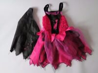 Witch dressing up costume. Pink/Black. Girl from age 3.