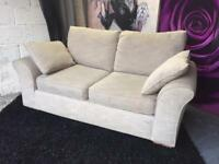 Next Garda 2 Seater Sofa in Texture Weave Natural Fabric