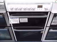 NEW GRADED WHITE 60 WIDE HOTPOINT FREESTANDING COOKER REF: 31062