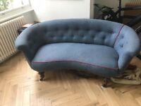 Sofa, late Victorian, RAF blue