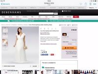 Debenhams darling bridal dress ivory brand new