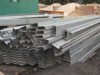 STEEL C-SECTION C-PURLIN 8FT 9 FRAMEWORK BEAMS (£1.20 + VAT PER FOOT)