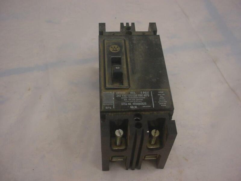 Westinghouse EB2060 2-Pole 240 Volt  Industrial Circuit Breakers E450
