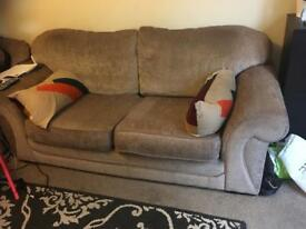 Sofa set and 2 double wardrobes