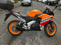 2016 HONDA CBR 125R REPSOL. LEARNER LEGAL, 6,000 MILES. £17 ROAD TAX. DRIVE AWAY