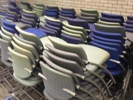 Selection of stacking chairs.