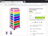 Really useful rainbow storage tower 8 drawers
