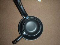 SET OF 3 LIGHTWEIGHT CARREFOUR PANS NO LIDS