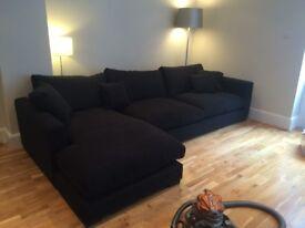 Fantastic, big, comfortable corner sofa, with footstool.
