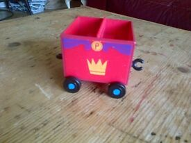 Peppa Pepper Pepa Pig toys spare red carriage for Grandpa Pig's royal red special train