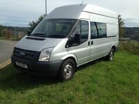 2012 FORD TRANSIT 350 CREW VAN 6 SEATS NO VAT TO PAY