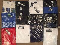 Mens t shirts £10 each branded can deliver local today sizes up to xxl