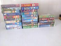 25 Disney VHS tapes