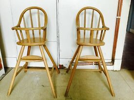 Stylish wooden high chairs