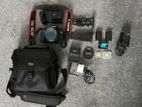 Canon 70D + 18-135mm full pack with accessories