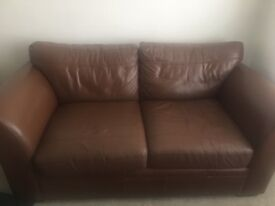 Next 2 and 3 seater leather sofa