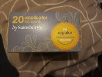 20 regular applicator tampons