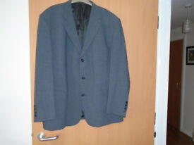 GENTS GREY JACKET, 50R, by CIRO CITTERIO, 49% POLYESTER, 40% WOOL for CASUAL or FORMAL OCCASSIONS