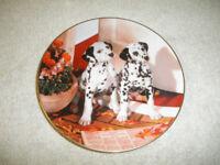 Hamilton Collection Plate Dalmatian Puppies