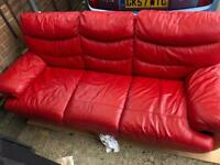Stunning red sofa bed