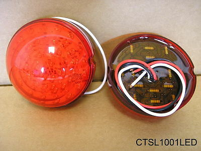 1949 50 Pontiac All exc Wagons LED Tail Lamp Lens Pair New CTSL1001LED