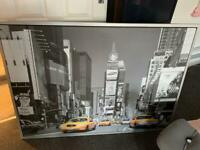 IKEA LARGE SILVER FRAMED NEW YORK PICTURE