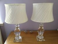 Table Lamps from Next. Solid Glass, Ivory Shades